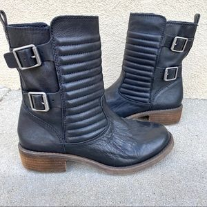 Lucky Brand DUNES quilted ankle boots Moto black